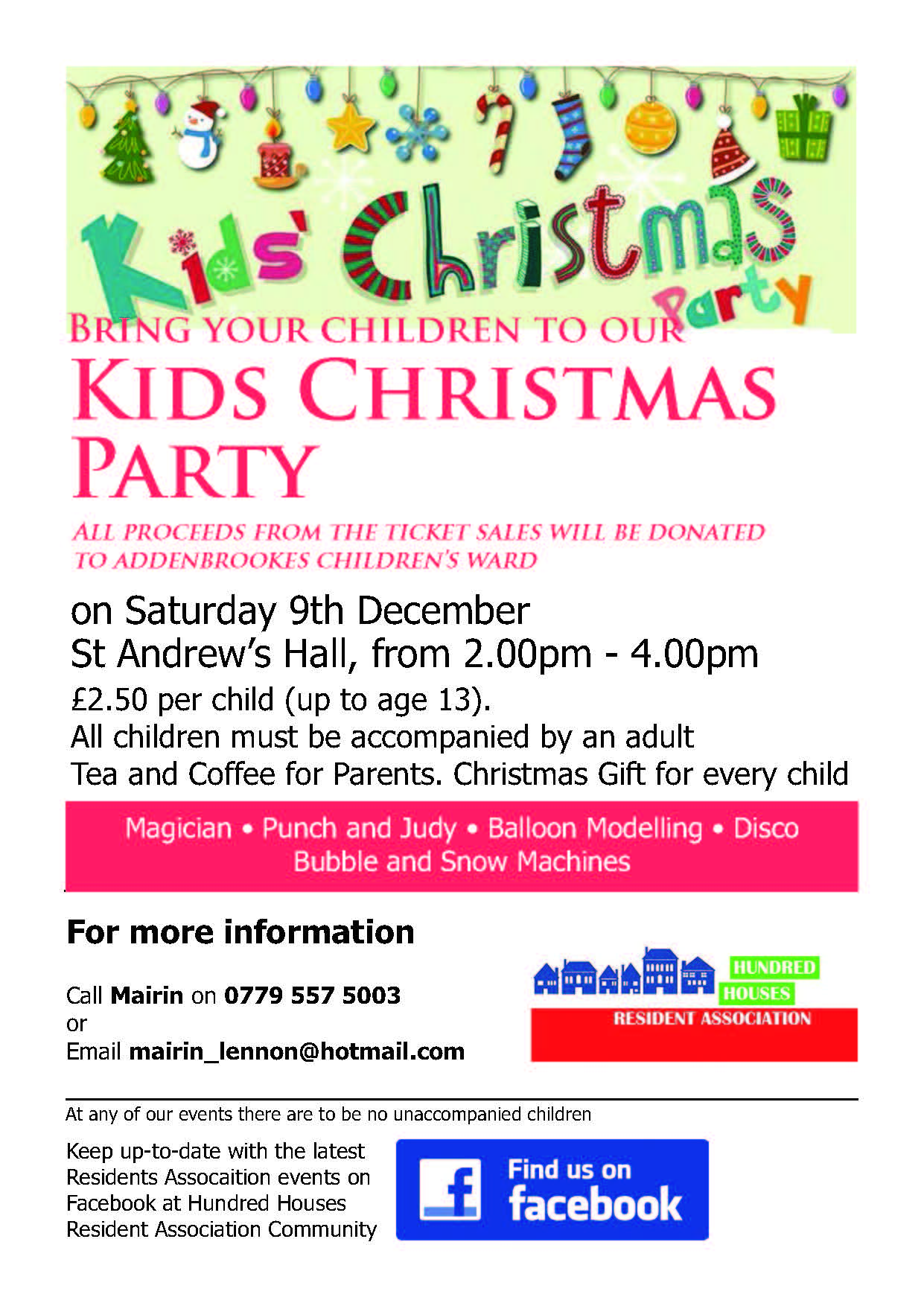 Children's Christmas Party, 9th December