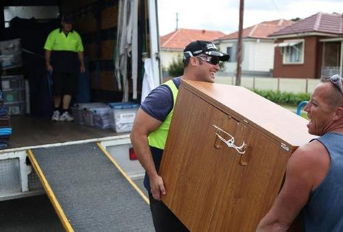 People moving furniture